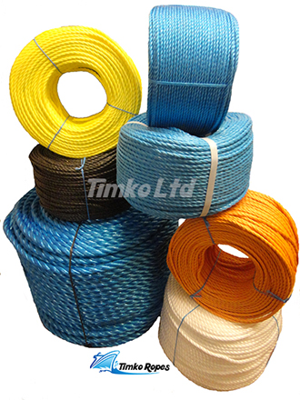 Coloured Polypropylene Rope In 220m Coils