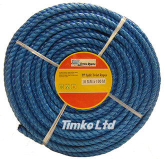 Polypropylene rope - 10mm Dia Blue x 100m Mini Coil