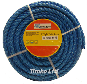 Polypropylene rope - 10mm Dia Blue x 50m Mini Coil