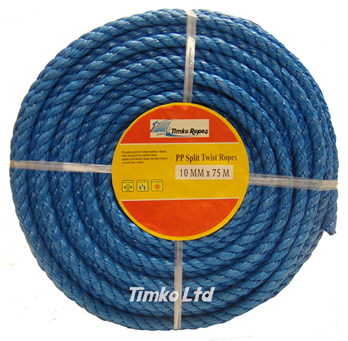 Polypropylene rope - 10mm Dia Blue x 75m Mini Coil