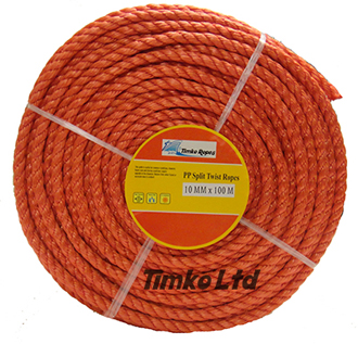Polypropylene rope - 10mm Dia Red x 100m Mini Coil