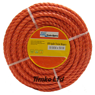 Polypropylene rope - 10mm Dia Red x 50m Mini Coil