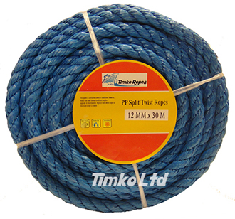 Polypropylene rope - 12mm Dia Blue x 30m Mini Coil