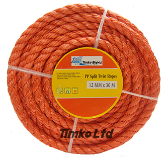 Polypropylene rope - 12mm Dia Red x 30m Mini Coil
