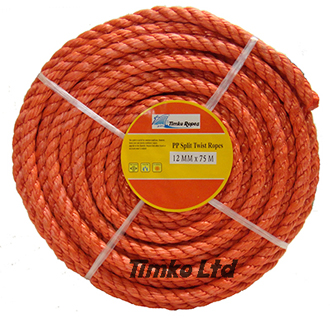 Polypropylene rope - 12mm Dia Red x 75m Mini Coil