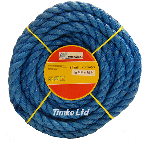 Polypropylene rope - 16mm Dia Blue x 30m Mini Coil