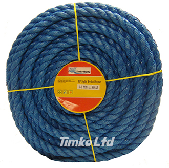 Polypropylene rope - 16mm Dia Blue x 50m Mini Coil
