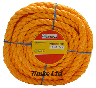 Polypropylene rope - 16mm Dia Orange x 30m Mini Coil