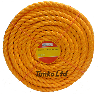 Polypropylene rope - 18mm Dia Orange x 30m Mini Coil