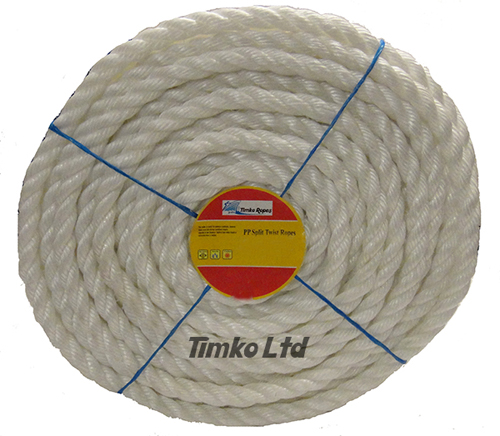 Polypropylene rope - 18mm Dia White x 30m Mini Coil