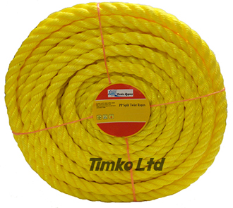 Polypropylene rope - 18mm Dia Yellow x 30m Mini Coil
