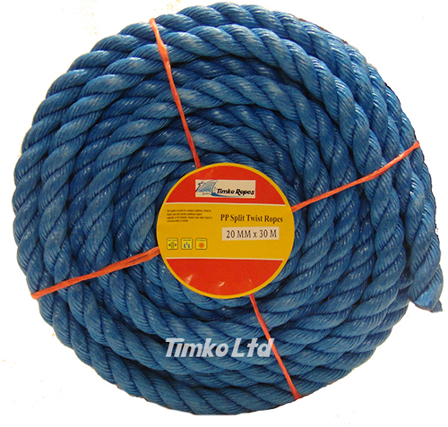 Polypropylene rope - 20mm Dia Blue x 30m Mini Coil