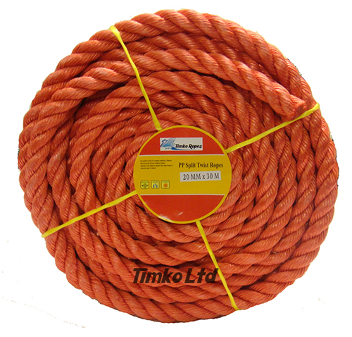 Polypropylene rope - 20mm Dia Red x 30m Mini Coil