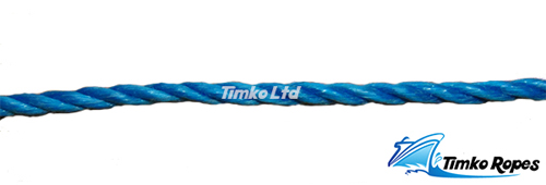 4mm Blue Polypropylene Rope Sold By The Metre