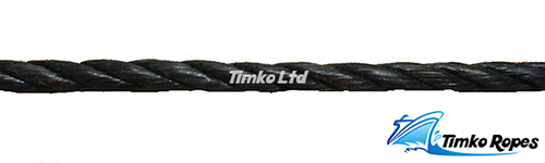 8mm Black Polypropylene Rope Sold By The Metre