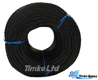 6mm Black Polypropylene Rope x 220m Bulk Coil