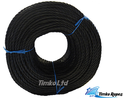 12mm Black Polypropylene Rope x 220m Bulk Coil