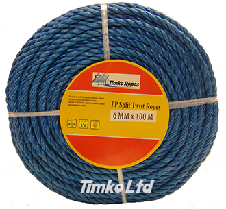 Polypropylene rope - 6mm Dia Blue x 100m Mini Coil