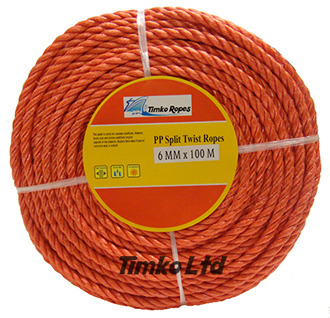 Polypropylene rope - 6mm Dia Red x 100m Mini Coil