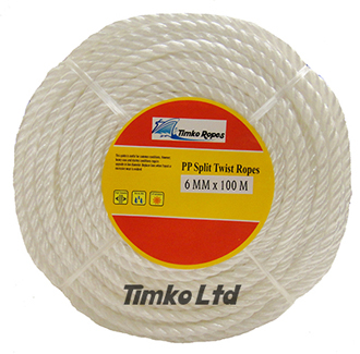 Polypropylene rope - 6mm Dia White x 100m Mini Coil