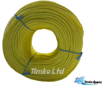 6mm Yellow Polypropylene Rope x 220m Bulk Coil