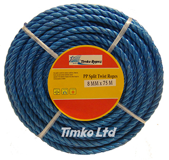 Polypropylene rope - 8mm Dia Blue x 75m Mini Coil