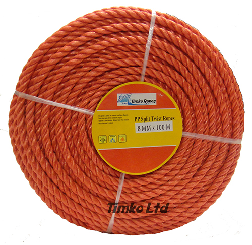 Polypropylene rope - 8mm Dia Red x 100m Mini Coil