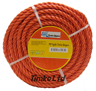Polypropylene rope - 8mm Dia Red x 50m Mini Coil