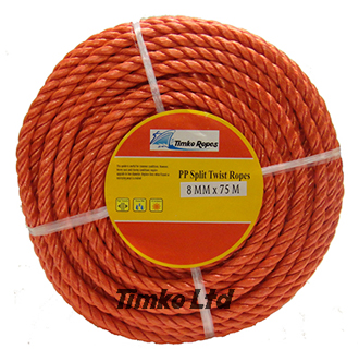 Polypropylene rope - 8mm Dia Red x 75m Mini Coil