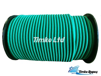 8mm Bottle Green Elastic Bungee Shock Cord x 10mtrs
