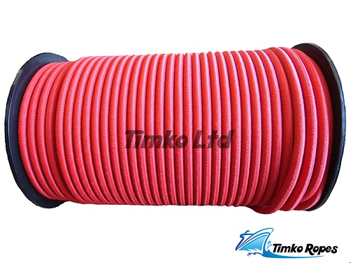 8mm Red Elastic Bungee Shock Cord x 50mtrs