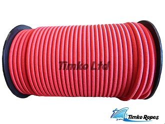 8mm Red Elastic Bungee Shock Cord x 15mtrs