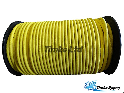 8mm Yellow Elastic Bungee Shock Cord x 50mtrs